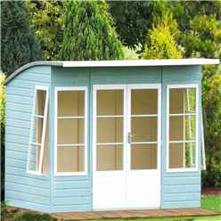 10 x 6 (2.99m x 1.79m) - Tongue And Groove - Pent Wooden Summerhouse - 4 Windows - Double Doors -  12mm Tongue And Groove Floor