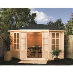 INSTALLED 11 x 11 Deluxe Corner Kestrel Chalet INCLUDES INSTALLATION