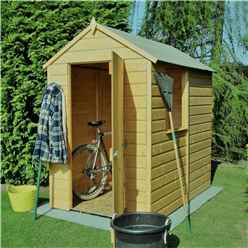 6 x 4 (1.82m x 1.2m) - Pressure Treated Tongue And Groove - Apex Garden Shed / Workshop - 1 Window - Single Door - 11mm Solid OSB Floor