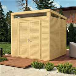 8 x 8 (2.4m x 2.4m) - Pent Security Shed - Double Doors - 19mm Tongue and Groove Walls & Floor