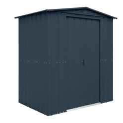 6 x 5 Premier EasyFix – Apex – Metal Shed - Anthracite Grey (1.84m x 1.54m)