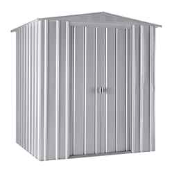 6 X 5 Aluminium White Metal Shed