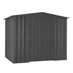 8 x 3 Premier EasyFix – Apex – Metal Shed - Anthracite Grey (2.45m x 0.92m)