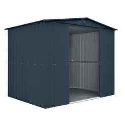 OOS - BACK FEB 2021 - 8 x 6 Premier EasyFix – Apex – Metal Shed -Anthracite Grey (2.45m x 1.85m)
