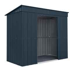 OOS - BACK JUNE 2021 - 8 x 4 Premier EasyFix - Pent - Metal Shed - Anthracite Grey (2.42m x 1.24m)