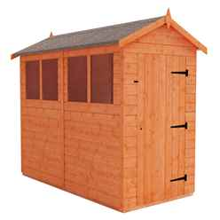 8 x 4 Tongue and Groove Shed (12mm Tongue and Groove Floor and Apex Roof)