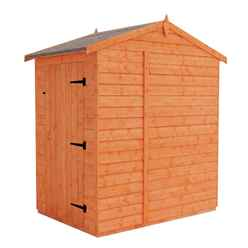 4 x 6 (1.23m x 1.75m) Horsforth Windowless Tongue and Groove Apex Shed with (12mm Tongue and Groove Floor and Roof)