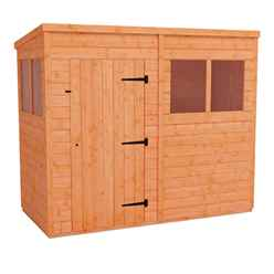 8 x 4 (2.38m x 1.15m) Horsforth Tongue and Groove Pent Shed with 4 Windows (12mm Tongue and Groove Floor and Roof)