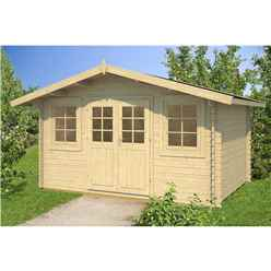 4m x 3m Budget Apex Log Cabin (216) - Single Glazing (28mm Wall Thickness)