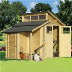 7 x 10 Skylight Shed With Store - Double Doors -19mm Tongue and Groove Walls, Floor + Roof