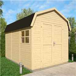 11 x 8 Dutch Barn - Double Doors - 19mm Tongue and Groove Walls and Floor - 1 Window