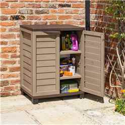 "2' 5"" x 1' 7"" Mocha Plastic Utility Cabinet  (750mm x 500mm)"