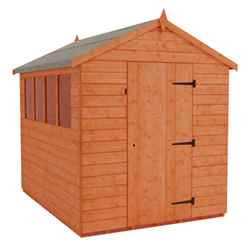 8 x 6 Tongue and Groove Apex Shed With 2 Windows and Single Door (12mm Tongue and Groove Floor and Roof)