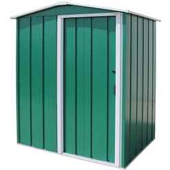 5 x 4 Value Apex Metal Shed - Green (1.62m x 1.22m)