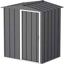 OOS - BACK W/C 31ST MAY 2021 - 5 x 4 Value Apex Metal Shed - Anthracite Grey (1.62m x 1.22m)