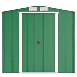 OOS - BACK W/C 30/11 - 6 x 4 Value Apex Metal Shed - Green (2.01m x 1.22m)