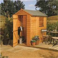 6 X 4 Deluxe Modular Tongue And Groove Shed (11mm Solid Osb Floor)