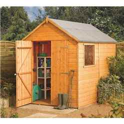 8 x 6 Deluxe Modular Tongue And Groove Shed  (11mm Solid OSB Floor)