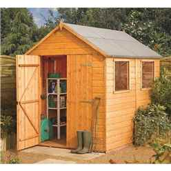 8 x 6 Deluxe Tongue and Groove Shed (12mm Tongue and Groove Floor)