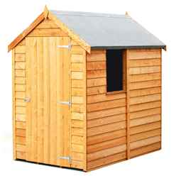 ** FLASH REDUCTION** 6 x 4  (1.83m x 1.20m) - Super Value Overlap - Apex Wooden Garden Shed - 1 Window - Single Door - 8mm Solid OSB Floor