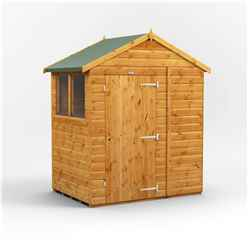 4 x 6 Premium Tongue and Groove Apex Shed - Single Door - 2 Windows - 12mm Tongue and Groove Floor and Roof