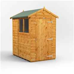 6 x 4 Premium Tongue and Groove Apex Shed - Single Door - 2 Windows - 12mm Tongue and Groove Floor and Roof