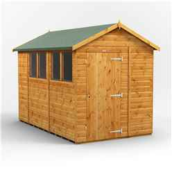 10 x 6 Premium Tongue and Groove Apex Shed - Single Door - 4 Windows - 12mm Tongue and Groove Floor and Roof