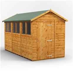 12 x 6 Premium Tongue and Groove Apex Shed - Single Door - 6 Windows - 12mm Tongue and Groove Floor and Roof