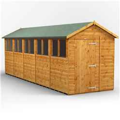 20 x 6 Premium Tongue and Groove Apex Shed - Single Door - 10 Windows - 12mm Tongue and Groove Floor and Roof