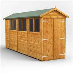 14 x 4 Premium Tongue and Groove Apex Shed - Double Doors - 6 Windows - 12mm Tongue and Groove Floor and Roof