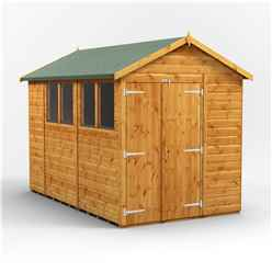 10 x 6 Premium Tongue and Groove Apex Shed - Double Doors - 4 Windows - 12mm Tongue and Groove Floor and Roof