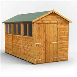 12 x 6 Premium Tongue and Groove Apex Shed - Double Doors - 6 Windows - 12mm Tongue and Groove Floor and Roof