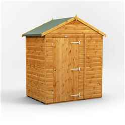 4 x 6 Premium Tongue and Groove Apex Shed - Single Door - Windowless - 12mm Tongue and Groove Floor and Roof