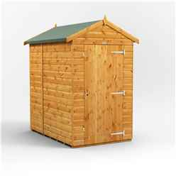 6 x 4 Premium Tongue and Groove Apex Shed - Single Door - Windowless - 12mm Tongue and Groove Floor and Roof