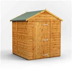 6 x 6 Premium Tongue and Groove Apex Shed - Single Door - Windowless - 12mm Tongue and Groove Floor and Roof