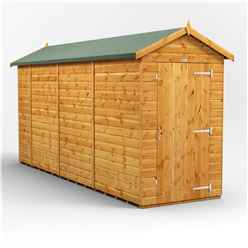 14 x 4 Premium Tongue and Groove Apex Shed - Single Door - Windowless - 12mm Tongue and Groove Floor and Roof