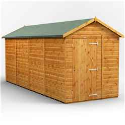 16 x 6 Premium Tongue and Groove Apex Shed - Single Door - Windowless - 12mm Tongue and Groove Floor and Roof