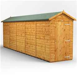 20 x 4 Premium Tongue and Groove Apex Shed - Single Door - Windowless - 12mm Tongue and Groove Floor and Roof