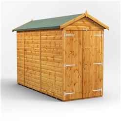 10 x 4 Premium Tongue and Groove Apex Shed - Double Doors - Windowless - 12mm Tongue and Groove Floor and Roof