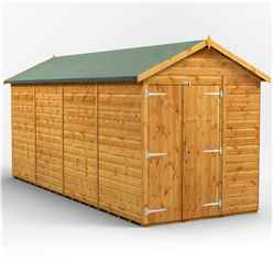 16 x 6 Premium Tongue and Groove Apex Shed - Double Doors - Windowless - 12mm Tongue and Groove Floor and Roof