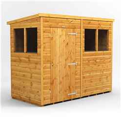8 x 4 Premium Tongue and Groove Pent Shed - Single Door - 4 Windows - 12mm Tongue and Groove Floor and Roof