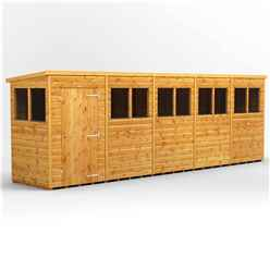 20 x 4 Premium Tongue and Groove Pent Shed - Single Door - 10 Windows - 12mm Tongue and Groove Floor and Roof