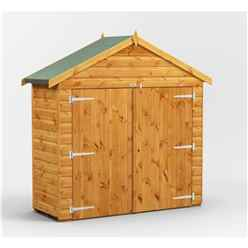 6 x 2  Premium Tongue and Groove Apex Bike Shed - 12mm Tongue and Groove Floor and Roof