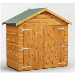 6 x 3  Premium Tongue and Groove Apex Bike Shed - 12mm Tongue and Groove Floor and Roof