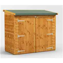 6 x 2  Premium Tongue and Groove Reverse Pent Bike Shed - 12mm Tongue and Groove Floor and Roof