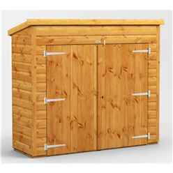 6 x 2 Premium Tongue and Groove Pent Bike Shed - 12mm Tongue and Groove Floor and Roof