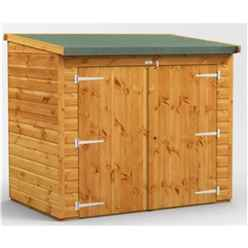 6 x 4 Premium Tongue and Groove Reverse Pent Bike Shed - 12mm Tongue and Groove Floor and Roof