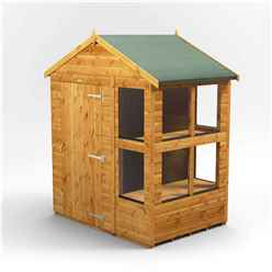 4 x 6 Premium Tongue and Groove Apex Potting Shed - Single Door - 8 Windows - 12mm Tongue and Groove Floor and Roof