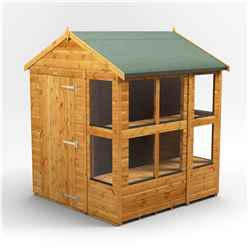 6 x 6 Premium Tongue and Groove Potting Shed - Single Door - 10 Windows - 12mm Tongue and Groove Floor and Roof