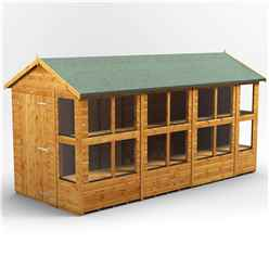 14 x 6 Premium Tongue and Groove Apex Potting Shed - Single Door - 18 Windows - 12mm Tongue and Groove Floor and Roof